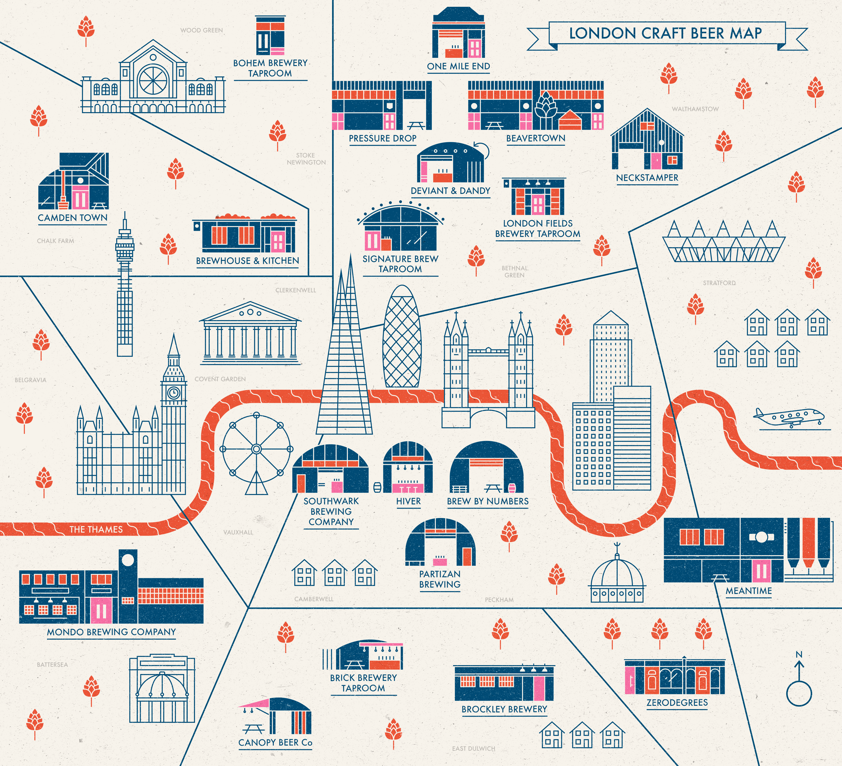 London Map Images.London Craft Beer Map Activity Superstore